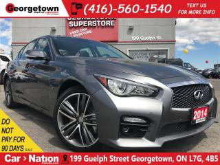 Used 2014 Infiniti Q50 Sport | NAVI | 360 CAM | AWD | LEATHER | ROOF | for sale in Georgetown, ON