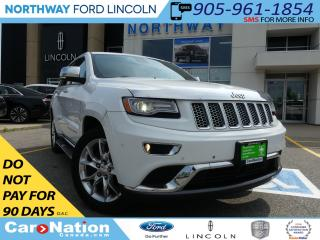 Used 2014 Jeep Grand Cherokee Summit | PANO ROOF | LEATHER | NAV | REAR CAM | for sale in Brantford, ON
