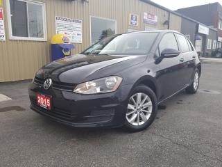 Used 2015 Volkswagen Golf TSI-OFF LEASE VW CREDIT-HEATED SEATS-ALLOY-BLUETOO for sale in Tilbury, ON