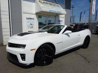 Used 2015 Chevrolet Camaro ZL1 Convertible, 580HP Supercharged V8, Nav, Auto for sale in Langley, BC