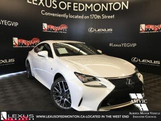 Used 2018 Lexus RC 350 DEMO UNIT - F SPORT SERIES 2 for sale in Edmonton, AB