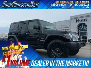 Used 2016 Jeep Wrangler Unlimited SAHARA/BT/NAV/RMT STRT/AUTO & MORE!! for sale in Milton, ON