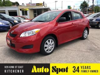Used 2014 Toyota Matrix LOW, LOW KMS/PRICED-QUICK SALE! for sale in Kitchener, ON