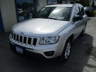 Used 2012 Jeep Compass 'GREAT VALUE' FUEL EFFICIENT NORTH EDITION 5 PASSENGER 2.4L - DOHC ENGINE.. 4X4.. CD/AUX INPUT.. KEYLESS.. for sale in Bradford, ON