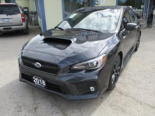 Used 2018 Subaru WRX 6-SPEED MANUAL LOADED LIMITED EDITION 5 PASSENGER 2.0L - DOHC.. AWD.. LEATHER.. HEATED SEATS.. NAVIGATION.. BACK-UP CAMERA.. POWER SUNROOF.. for sale in Bradford, ON