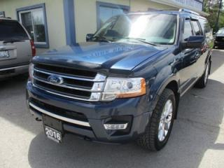 Used 2016 Ford Expedition LOADED MAX - LIMITED EDITION 7 PASSENGER 3.5L - ECO-BOOST.. 4X4.. CAPTAINS.. 3RD ROW.. LEATHER.. HEATED/AC SEATS.. NAVIGATION.. SUNROOF.. BLUETOOTH.. for sale in Bradford, ON