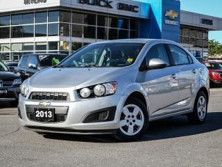 Used 2013 Chevrolet Sonic LOW KM, LS, A/C, 5-SPEED, BLUETOOTH for sale in Ottawa, ON