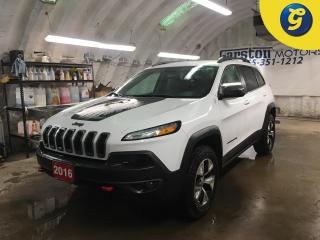 Used 2016 Jeep Cherokee TRAILHAWK*4WD*NAVIGATION READY*LEATHER CLOTH INSERTS*BACK UP CAMERA*U CONNECT PHONE* for sale in Cambridge, ON