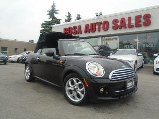 Used 2014 MINI Cooper Convertible CONVERTIBLE  VERY LOW  KM  NO ACCIDENTS AUX PL PW for sale in Oakville, ON