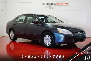 Used 2004 Honda Accord DX + TRÈS BIEN ENTRETENUE + A/C for sale in St-Basile-le-Grand, QC