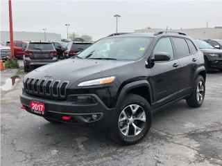 Used 2017 Jeep Cherokee Trailhawk**Leather**Sunroof**NAV**Only 9, 549 KM** for sale in Mississauga, ON
