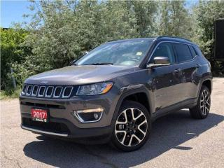 Used 2017 Jeep Compass Limited**Leather**Navigation**Sunroof**Bluetooth** for sale in Mississauga, ON