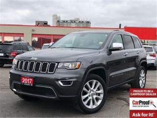 Used 2017 Jeep Grand Cherokee Limited**Leather**Sunroof**Navigation** for sale in Mississauga, ON