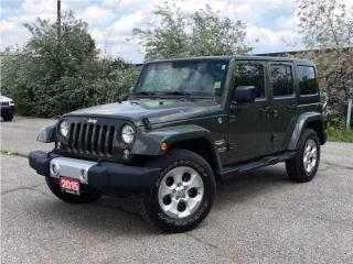 Used 2015 Jeep Wrangler Unlimited Sahara**4X4**Navigation**Bluetooth**Remote Start** for sale in Mississauga, ON