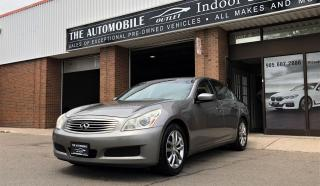 Used 2009 Infiniti G37 LEATHER NO ACCIDENT for sale in Mississauga, ON