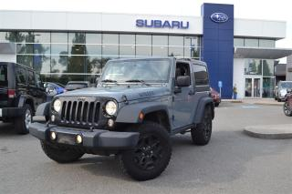 Used 2015 Jeep Wrangler Sport - Willy's Edition for sale in Port Coquitlam, BC