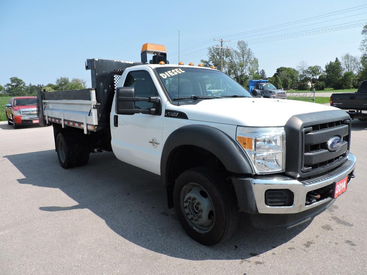 2014 Ford F-550 XL. Diesel. 4X4. Dump Box. Only 92,000 KM's