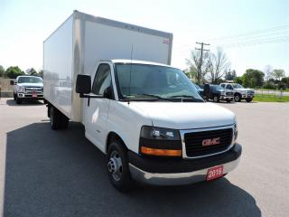 Used 2016 GMC Savana 3500. 16' Diesel cube van. New tires for sale in Gorrie, ON