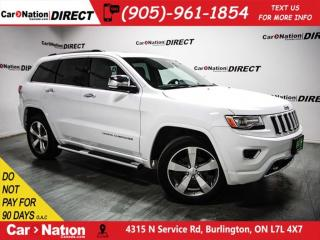 Used 2015 Jeep Grand Cherokee Overland| BLIND SPOT DETECTION| NAVI| for sale in Burlington, ON