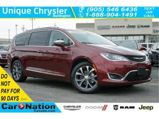Used 2017 Chrysler Pacifica LIMITED| PARALLEL PARK ASSIST| HANDS-FREE DOORS for sale in Burlington, ON