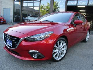 Used 2014 Mazda MAZDA3 GT-SKY-NAVI-LTHER-ROOF-CAMERA-LEATHER-ROOF-BLUETOO for sale in Scarborough, ON