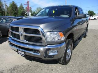 Used 2012 Dodge Ram 2500 3/4 TON WORK READY SLT EDITION 6 PASSENGER 6.7L - CUMMINS.. 4X4.. MEGA CAB.. SHORTY.. CD/AUX INPUT.. KEYLESS ENTRY.. BLUETOOTH.. for sale in Bradford, ON