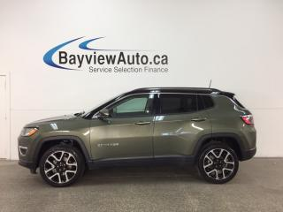 Used 2017 Jeep Compass Limited - 9 SPD AUTO! REM START! PANOROOF! HTD LTHR! NAV! PWR LIFTGATE! for sale in Belleville, ON