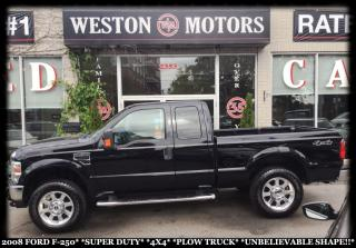 Used 2008 Ford F-250 SUPER DUTY*4X4*PLOW TRUCK*UNBELIEVABLE SHAPE!!* for sale in Toronto, ON