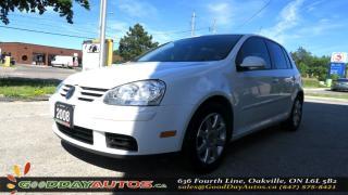 Used 2008 Volkswagen Rabbit Trendline ALLOYS TIPTRONIC CRUISE CNTRL CERTIFIED for sale in Oakville, ON