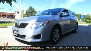 Used 2010 Toyota Corolla CE|NO ACCIDENT|5 SPD MANUAL|A/C|CERTIFIED for sale in Oakville, ON