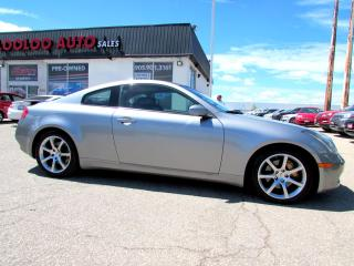 Used 2004 Infiniti G35 Coupe 3.5L 6 SPD MANUAL LEATHER SUNROOF CERTIFIED 2YR WARRANTY for sale in Milton, ON