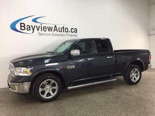 Used 2016 RAM 1500 Laramie - ECODIESEL! QUAD! CHROMES! ROOF! HTD/AC LTHR! NAV! for sale in Belleville, ON