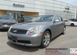 Used 2006 Infiniti G35X ASIS Super Saver for sale in Unionville, ON