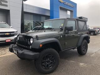 Used 2016 Jeep Wrangler Willys Wheeler for sale in Barrie, ON