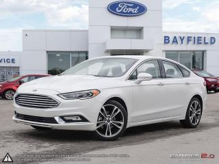 Used 2017 Ford Fusion Titanium |LEATHER|SUNROOF|NAVIGATION|HEATED & COOLED SEATS| for sale in Barrie, ON