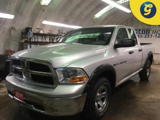 Used 2011 RAM 1500 SXT*QUAD CAB*4WD*HEMI*LINE X*FENDER FLARES*TOW/HAUL MODE*HITCH RECEIVER w/PIN CONNECTOR*POWER WINDOWS/LOCKS/HEATED MIRRORS* for sale in Cambridge, ON
