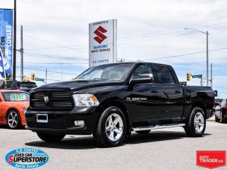 Used 2012 RAM 1500 Sport Crew 4x4 ~Nav ~Backup Cam ~Heated Leather for sale in Barrie, ON