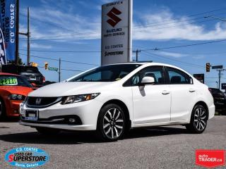 Used 2013 Honda Civic Touring ~Nav ~Backup Cam ~Power Moonroof ~Leather for sale in Barrie, ON