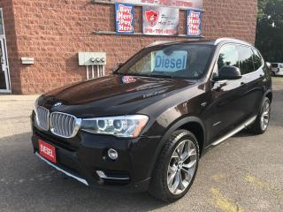 Used 2015 BMW X3 xDrive28d/DIESEL/ONE OWNER/NO ACCIDENT/CERTIFIED for sale in Cambridge, ON