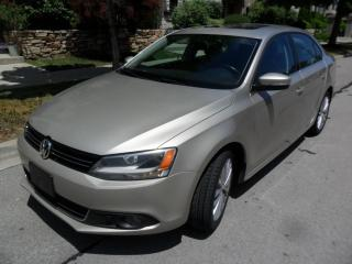 Used 2013 Volkswagen Jetta TDI,HIGHLINE, LEATHER,ROOF, BR.NEW TIRES for sale in Etobicoke, ON