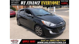 Used 2016 Hyundai Accent SE| HEATED SEATS| POWER MOONROOF| BLUETOOTH for sale in Hamilton, ON