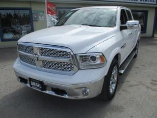 Used 2016 Dodge Ram 1500 LOADED LARAMIE MODEL 5 PASSENGER 3.0L - ECO-DIESEL.. 4X4.. CREW.. SHORTY.. LEATHER.. HEATED/AC SEATS.. NAVIGATION.. SUNROOF.. BLUETOOTH.. for sale in Bradford, ON