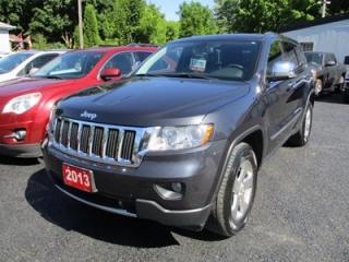 Used 2013 Jeep Grand Cherokee LOADED! LIMITED EDITION 5 PASSENGER 3.6L - V6.. 4X4.. LEATHER.. SUNROOF.. HEATED & A/C SEATS.. NAVIGATION.. BLUETOOTH.. for sale in Bradford, ON