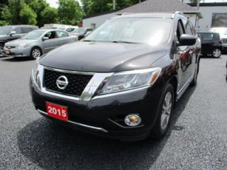 Used 2015 Nissan Pathfinder LOADED SV MODEL 7 PASSENGER 3.5L - V6.. 4WD.. LEATHER.. HEATED SEATS.. DUAL SUNROOF.. TOW PACKAGE.. NAVIGATION.. BLUETOOTH.. for sale in Bradford, ON