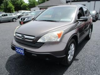 Used 2009 Honda CR-V 'GREAT VALUE' EX MODEL 5 PASSENGER 2.4L - 4CYL.. 4WD.. CLOTH INTERIOR.. CD/AUX.. POWER SUNROOF.. KEYLESS ENTRY.. for sale in Bradford, ON