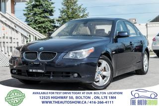 Used 2006 BMW 5 Series 525i 1 OWNER ACCIDENT FREE, SERVICE RECORDS for sale in Caledon, ON
