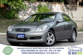 Used 2007 Infiniti G35X AWD NAVI GPS REARCAM CERTIFIED CLEAN BLUETOOTH for sale in Bolton, ON