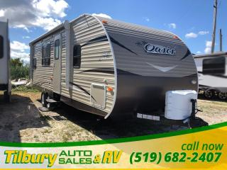 New 2019 Forest River Shasta Oasis 26BH BUNK HOUSE! MASTER BEDROOM. for sale in Tilbury, ON
