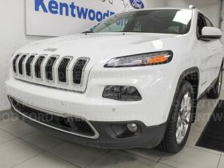Used 2015 Jeep Cherokee Limited with NAV, sunroof, heated/cooled power leather seats, heated steering wheel and a power liftgate for sale in Edmonton, AB