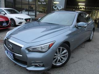 Used 2014 Infiniti Q50 Hybrid-Premium-NAV-CAM-BLUE-TOT-LOADED for sale in Scarborough, ON